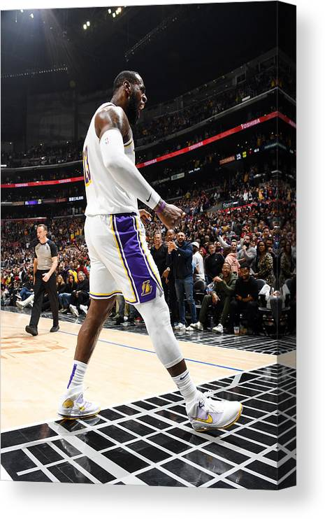Nba Pro Basketball Canvas Print featuring the photograph Lebron James by Andrew D. Bernstein