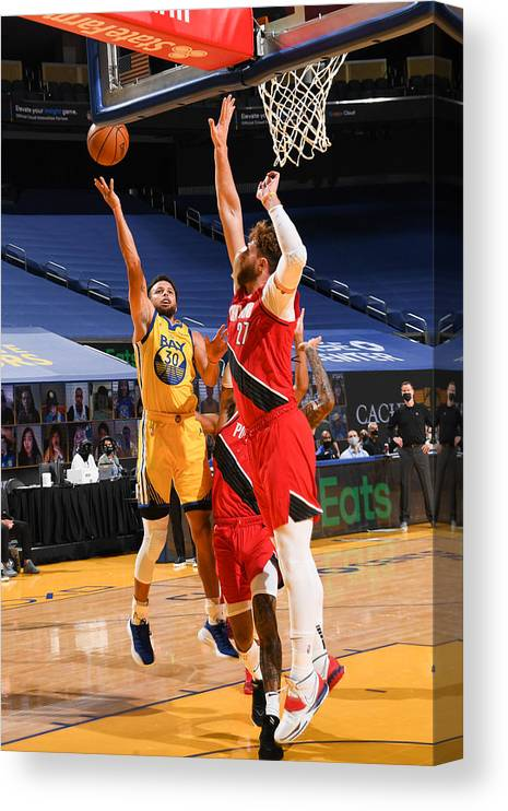 San Francisco Canvas Print featuring the photograph Stephen Curry by Noah Graham