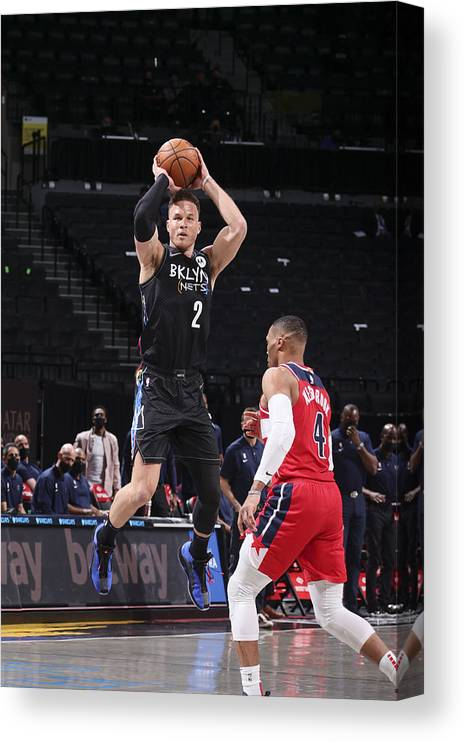 Nba Pro Basketball Canvas Print featuring the photograph Blake Griffin by Nathaniel S. Butler