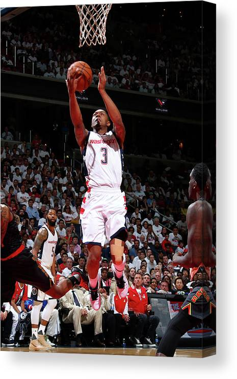 Playoffs Canvas Print featuring the photograph Bradley Beal by Ned Dishman