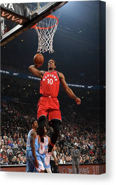Nba Pro Basketball Canvas Print featuring the photograph Demar Derozan by Ron Turenne