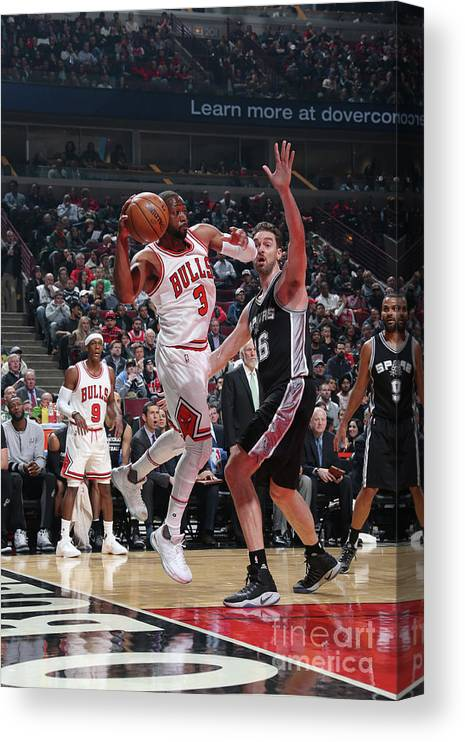 Nba Pro Basketball Canvas Print featuring the photograph Dwyane Wade by Nathaniel S. Butler