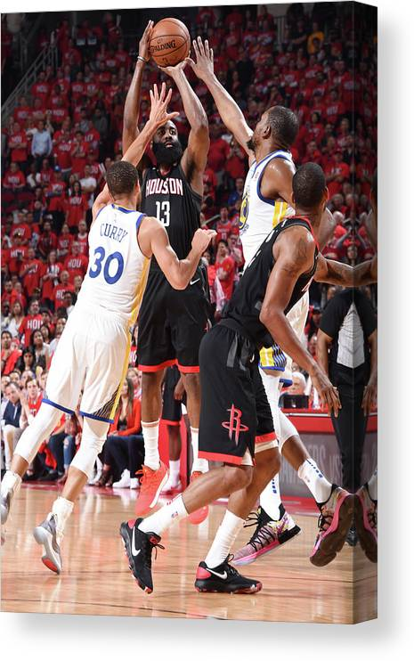 Playoffs Canvas Print featuring the photograph James Harden by Andrew D. Bernstein