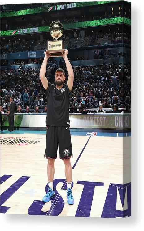 Nba Pro Basketball Canvas Print featuring the photograph Joe Harris by Nathaniel S. Butler