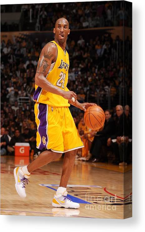 Playoffs Canvas Print featuring the photograph Kobe Bryant by Noah Graham