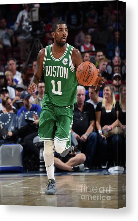Nba Pro Basketball Canvas Print featuring the photograph Kyrie Irving by Brian Babineau