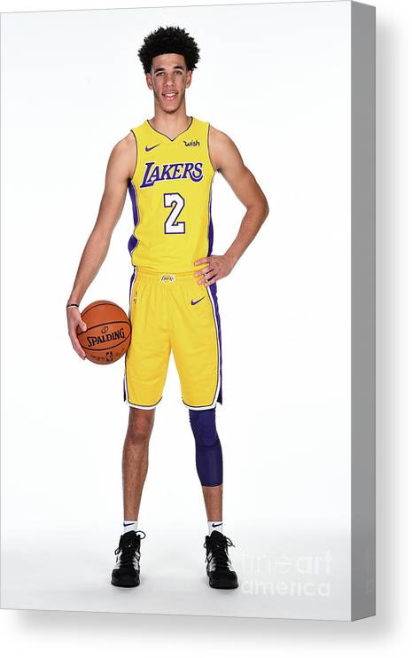 Media Day Canvas Print featuring the photograph Lonzo Ball by Andrew D. Bernstein