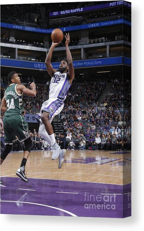 Nba Pro Basketball Canvas Print featuring the photograph Tyreke Evans by Rocky Widner