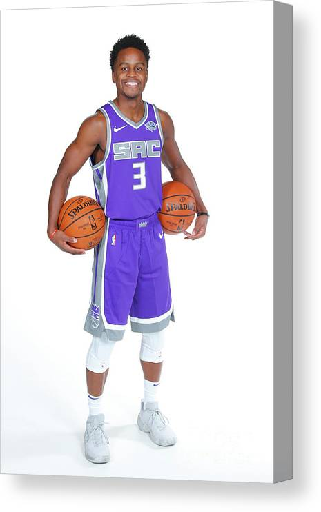 Media Day Canvas Print featuring the photograph Yogi Ferrell by Rocky Widner
