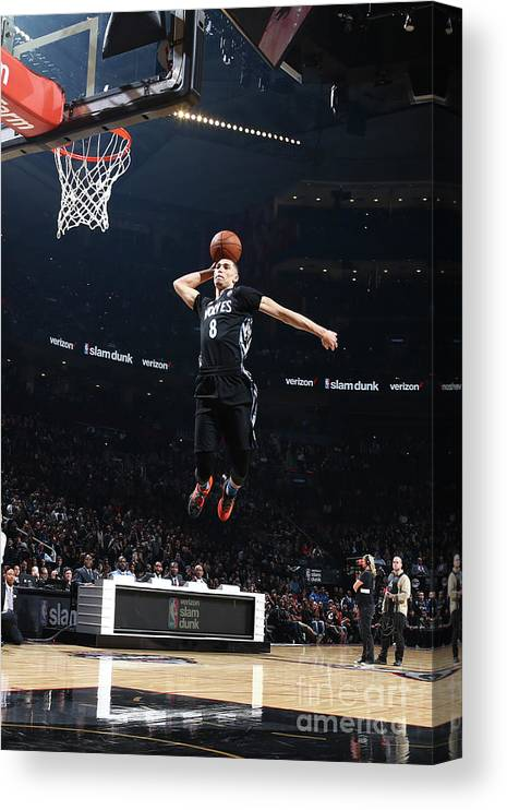 Event Canvas Print featuring the photograph Zach Lavine by Nathaniel S. Butler