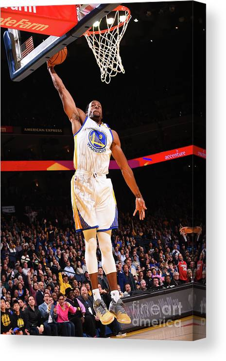 Nba Pro Basketball Canvas Print featuring the photograph Andre Iguodala by Noah Graham