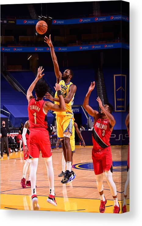 San Francisco Canvas Print featuring the photograph Andrew Wiggins by Noah Graham