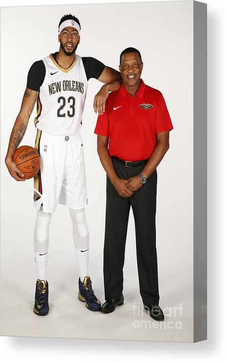 Media Day Canvas Print featuring the photograph Anthony Davis by Jonathan Bachman