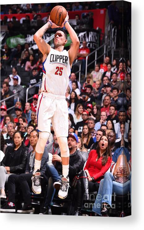 Nba Pro Basketball Canvas Print featuring the photograph Austin Rivers by Andrew D. Bernstein