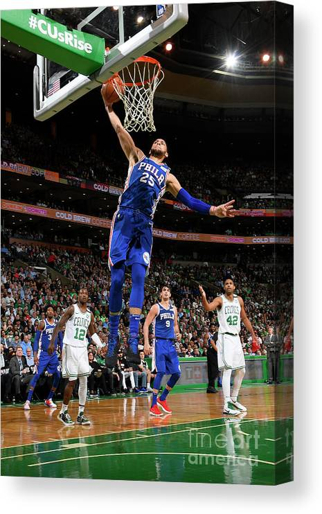 Playoffs Canvas Print featuring the photograph Ben Simmons by Brian Babineau
