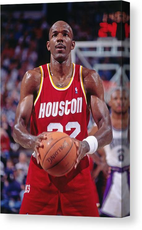 Nba Pro Basketball Canvas Print featuring the photograph Clyde Drexler by Rocky Widner