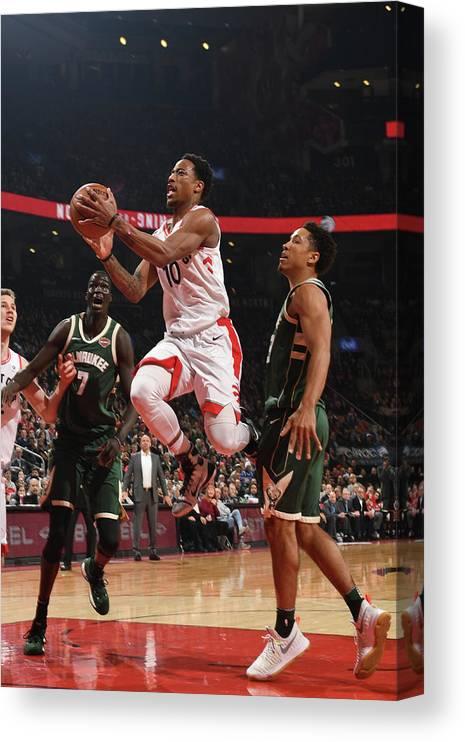 Nba Pro Basketball Canvas Print featuring the photograph Demar Derozan by Ron Turenne