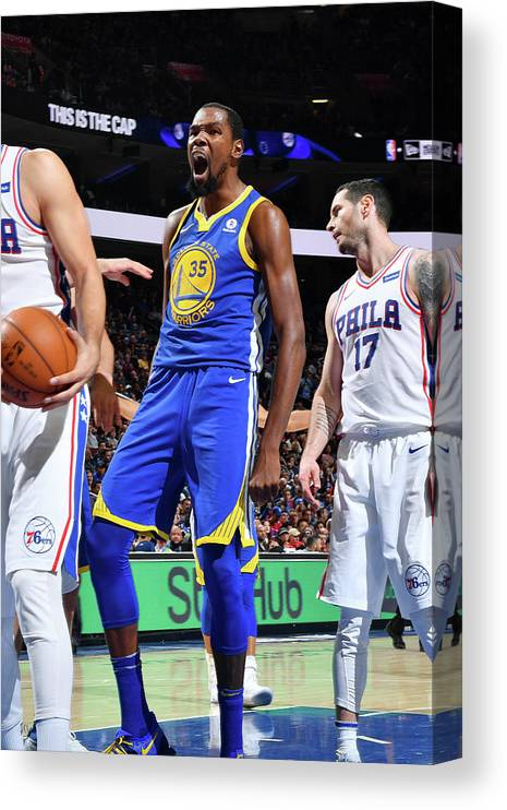 Nba Pro Basketball Canvas Print featuring the photograph Kevin Durant by Jesse D. Garrabrant