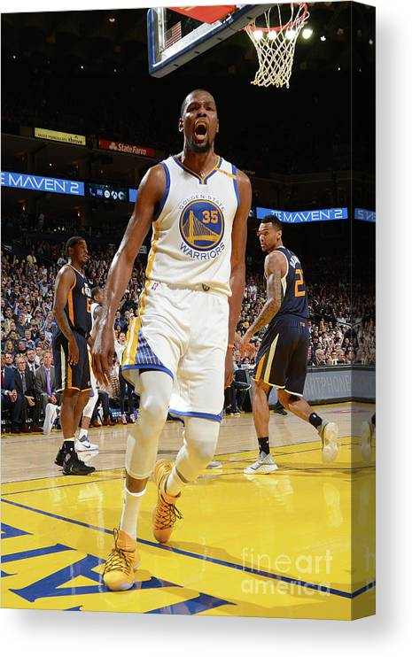 Nba Pro Basketball Canvas Print featuring the photograph Kevin Durant by Noah Graham