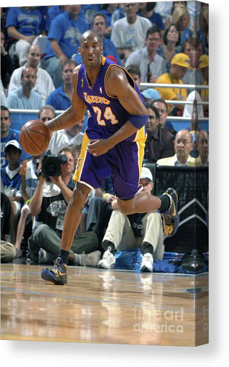 Nba Pro Basketball Canvas Print featuring the photograph Kobe Bryant by Andrew D. Bernstein