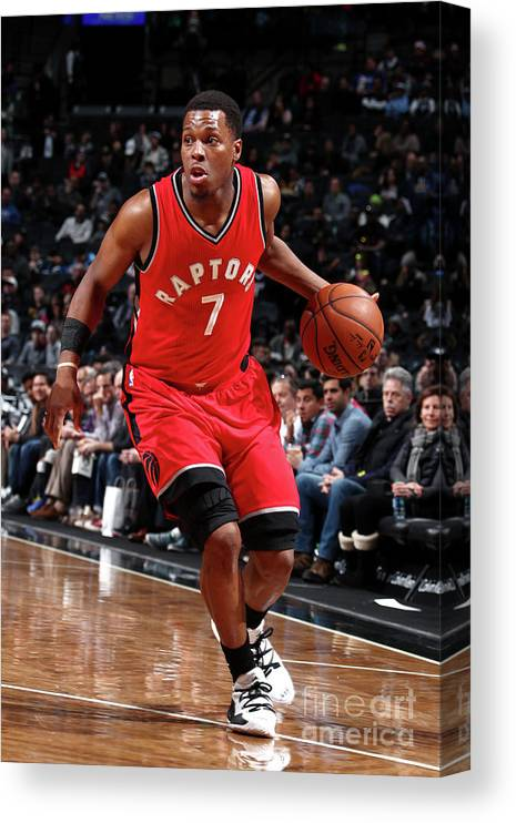 Nba Pro Basketball Canvas Print featuring the photograph Kyle Lowry by Nathaniel S. Butler
