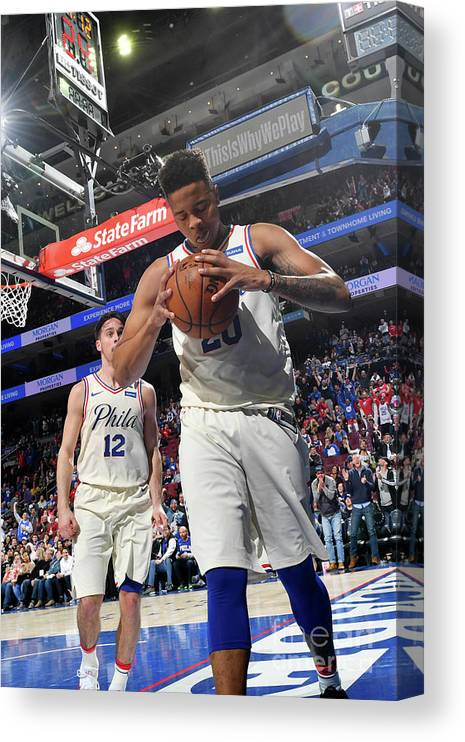 Description Canvas Print featuring the photograph Markelle Fultz by Jesse D. Garrabrant