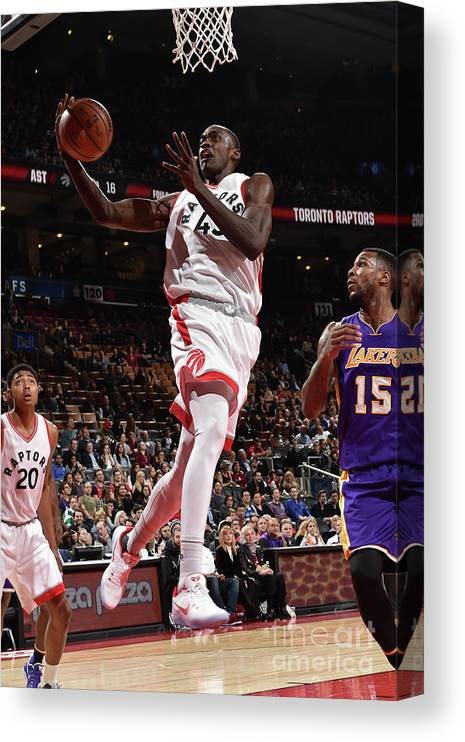 Nba Pro Basketball Canvas Print featuring the photograph Pascal Siakam by Ron Turenne