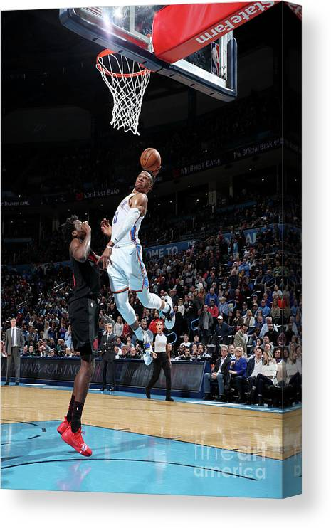 Nba Pro Basketball Canvas Print featuring the photograph Russell Westbrook by Zach Beeker