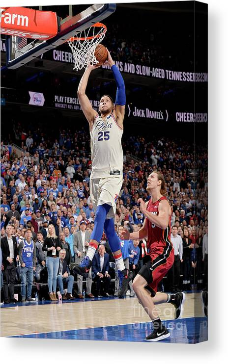 Playoffs Canvas Print featuring the photograph Ben Simmons by David Dow