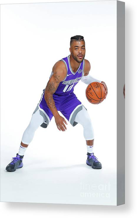 Media Day Canvas Print featuring the photograph Frank Mason by Rocky Widner