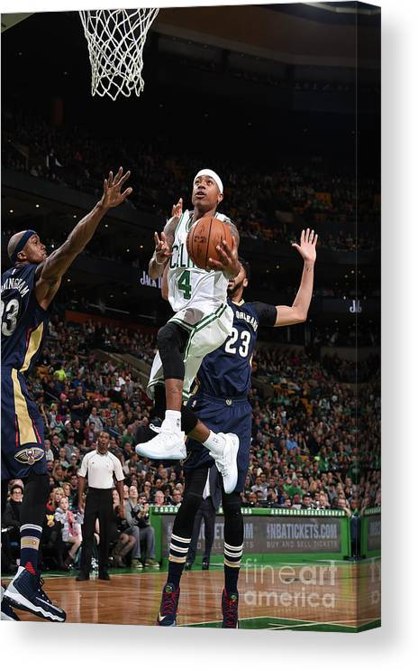 Nba Pro Basketball Canvas Print featuring the photograph Isaiah Thomas by Brian Babineau