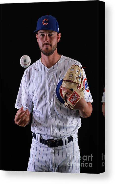 Media Day Canvas Print featuring the photograph Kris Bryant by Gregory Shamus