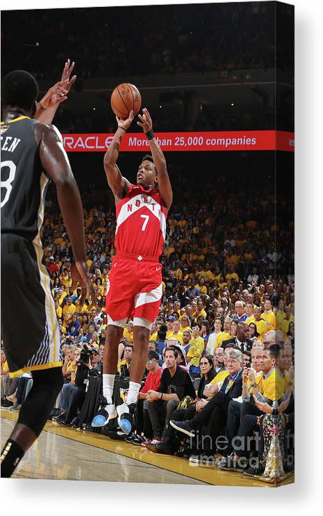 Playoffs Canvas Print featuring the photograph Kyle Lowry by Nathaniel S. Butler