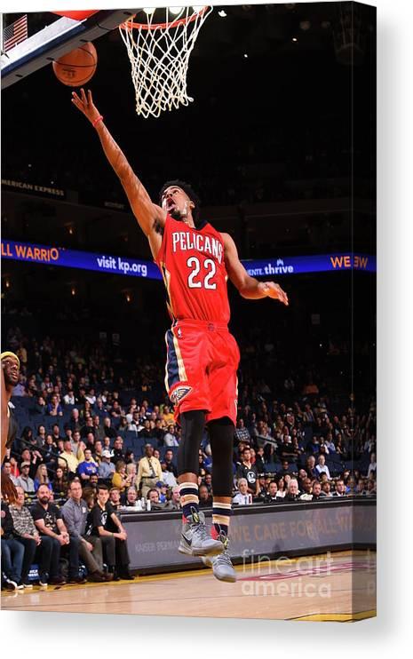 Nba Pro Basketball Canvas Print featuring the photograph Quinn Cook by Noah Graham