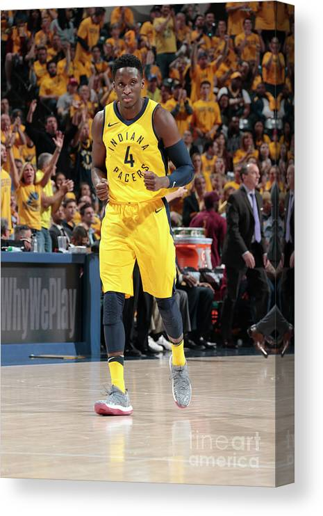 Playoffs Canvas Print featuring the photograph Victor Oladipo by Ron Hoskins