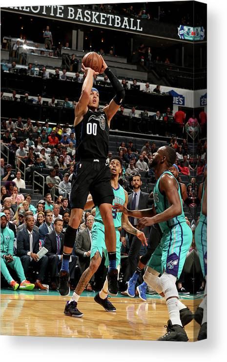 Nba Pro Basketball Canvas Print featuring the photograph Aaron Gordon by Kent Smith
