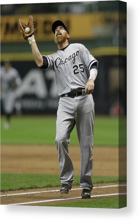 Adam Laroche Canvas Print featuring the photograph Adam Laroche by Mike Mcginnis