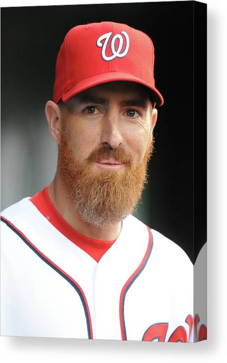 Adam Laroche Canvas Print featuring the photograph Adam Laroche by Mitchell Layton