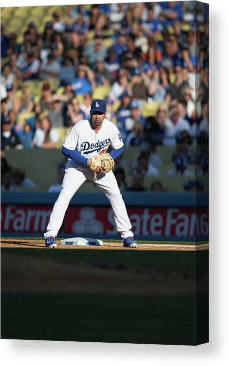 California Canvas Print featuring the photograph Adrian Gonzalez by Paul Spinelli