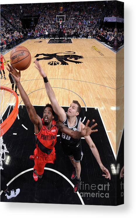 Nba Pro Basketball Canvas Print featuring the photograph Al-farouq Aminu by Rocky Widner