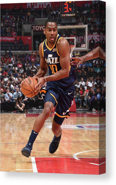 Nba Pro Basketball Canvas Print featuring the photograph Alec Burks by Andrew D. Bernstein