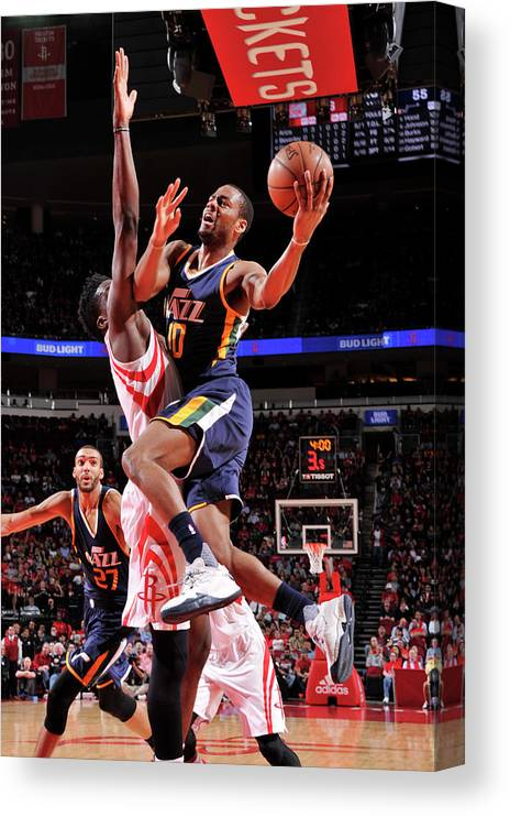 Nba Pro Basketball Canvas Print featuring the photograph Alec Burks by Bill Baptist