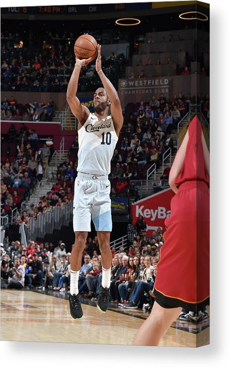 Nba Pro Basketball Canvas Print featuring the photograph Alec Burks by David Liam Kyle