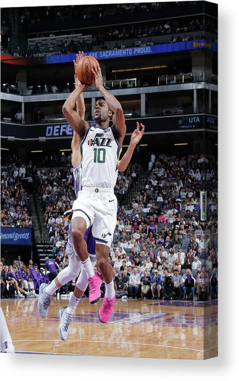 Nba Pro Basketball Canvas Print featuring the photograph Alec Burks by Rocky Widner