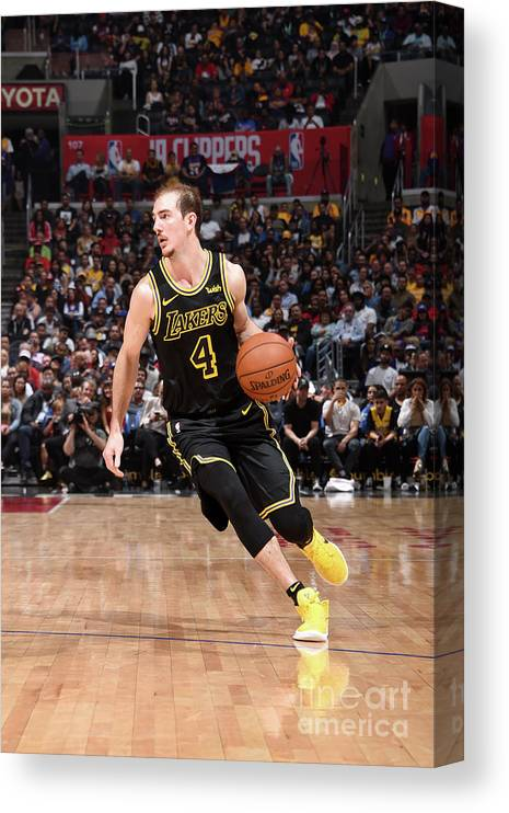 Sports Ball Canvas Print featuring the photograph Alex Caruso by Adam Pantozzi