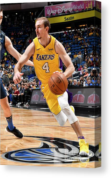Nba Pro Basketball Canvas Print featuring the photograph Alex Caruso by Fernando Medina