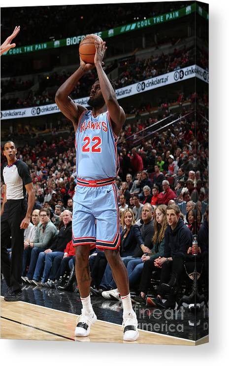 Nba Pro Basketball Canvas Print featuring the photograph Alex Poythress by Gary Dineen