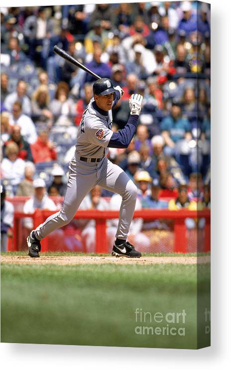 People Canvas Print featuring the photograph Alex Rodriguez by John Williamson