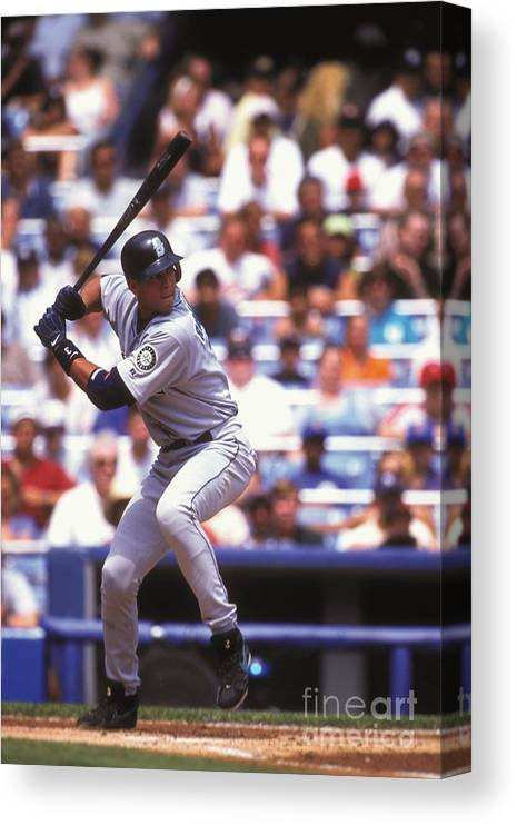 People Canvas Print featuring the photograph Alex Rodriguez by Mitchell Layton
