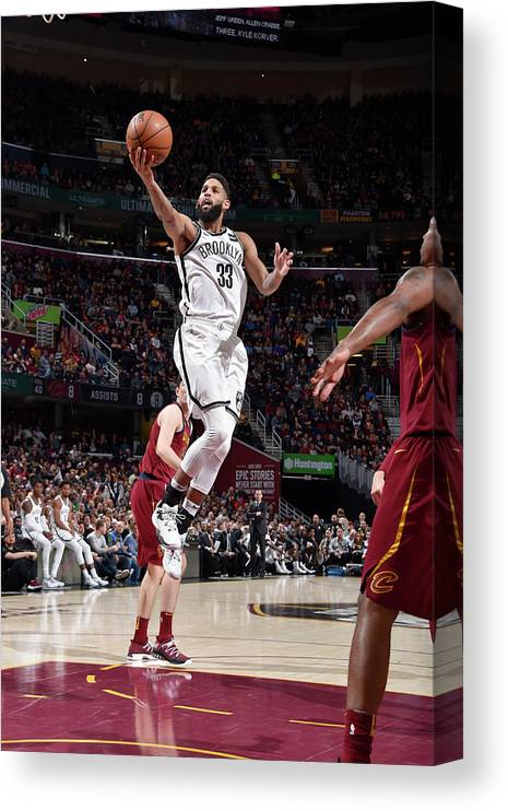 Nba Pro Basketball Canvas Print featuring the photograph Allen Crabbe by David Liam Kyle